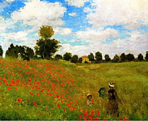 Monet - Coquelicots - Poppies at Argenteuil - 1873