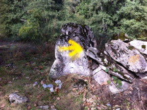 Yellow Arrow along the Camino