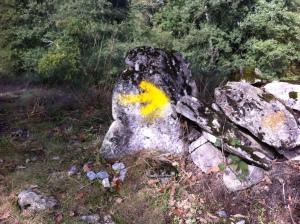 Yellow Arrow along the Camino
