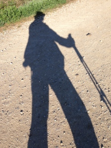 Setting out on my last day walking the Camino from Mansilla de las Mulas.