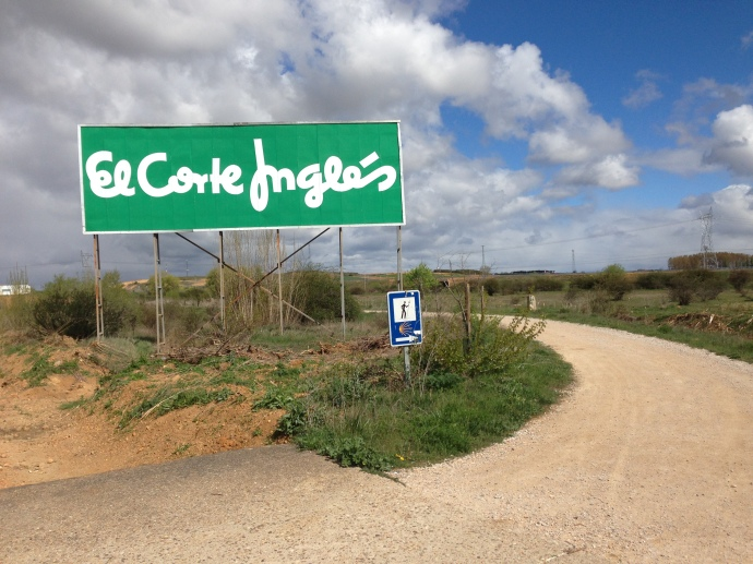 The Camino meets billboards for the Macy's of Spain